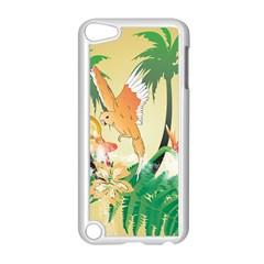 Funny Budgies With Palm And Flower Apple iPod Touch 5 Case (White)