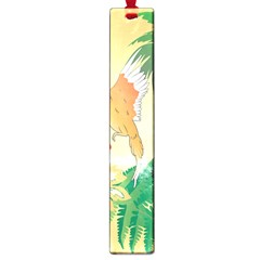 Funny Budgies With Palm And Flower Large Book Marks