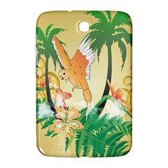 Funny Budgies With Palm And Flower Samsung Galaxy Note 8.0 N5100 Hardshell Case