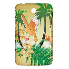 Funny Budgies With Palm And Flower Samsung Galaxy Tab 3 (7 ) P3200 Hardshell Case
