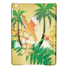 Funny Budgies With Palm And Flower iPad Air Hardshell Cases