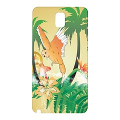 Funny Budgies With Palm And Flower Samsung Galaxy Note 3 N9005 Hardshell Back Case