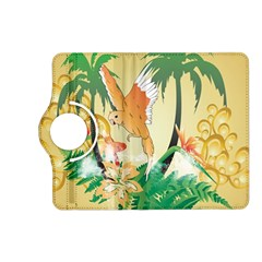Funny Budgies With Palm And Flower Kindle Fire Hd (2013) Flip 360 Case