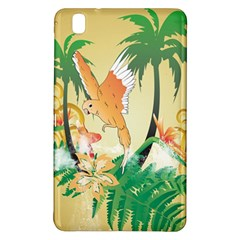 Funny Budgies With Palm And Flower Samsung Galaxy Tab Pro 8.4 Hardshell Case