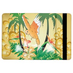 Funny Budgies With Palm And Flower iPad Air 2 Flip