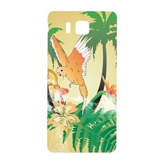 Funny Budgies With Palm And Flower Samsung Galaxy Alpha Hardshell Back Case