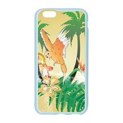 Funny Budgies With Palm And Flower Apple Seamless iPhone 6/6S Case (Color)