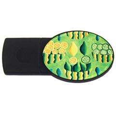 Lemons And Limes USB Flash Drive Oval (4 GB)