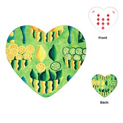 Lemons And Limes Playing Cards (Heart)