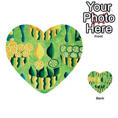Lemons And Limes Multi-purpose Cards (Heart)