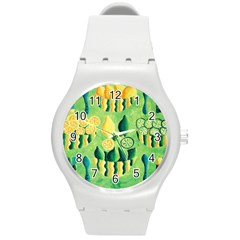 Lemons And Limes Round Plastic Sport Watch (M)