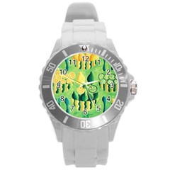 Lemons And Limes Round Plastic Sport Watch (L)