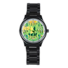Lemons And Limes Stainless Steel Round Watches