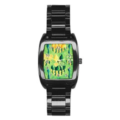 Lemons And Limes Stainless Steel Barrel Watch