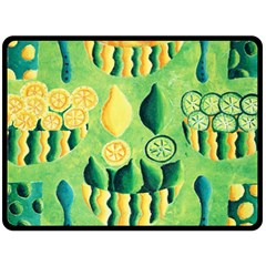 Lemons And Limes Double Sided Fleece Blanket (Large)