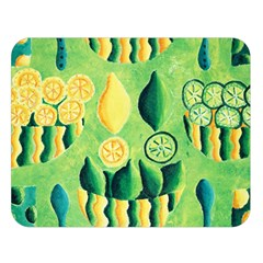 Lemons And Limes Double Sided Flano Blanket (large)
