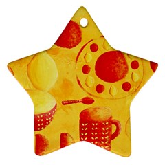 Lemons And Oranges With Bowls  Ornament (Star)
