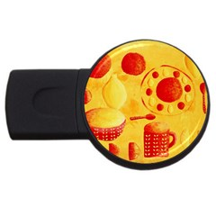 Lemons And Oranges With Bowls  USB Flash Drive Round (2 GB)