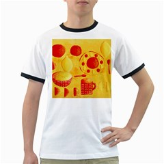 Lemons And Oranges With Bowls  Ringer T-Shirts
