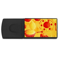 Lemons And Oranges With Bowls  USB Flash Drive Rectangular (4 GB)