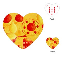 Lemons And Oranges With Bowls  Playing Cards (heart)