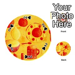 Lemons And Oranges With Bowls  Playing Cards 54 (round)