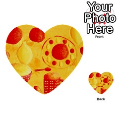 Lemons And Oranges With Bowls  Multi-purpose Cards (Heart)