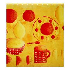 Lemons And Oranges With Bowls  Shower Curtain 66  x 72  (Large)