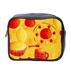 Lemons And Oranges With Bowls  Mini Toiletries Bag 2-Side
