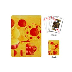Lemons And Oranges With Bowls  Playing Cards (Mini)