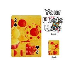 Lemons And Oranges With Bowls  Playing Cards 54 (mini)