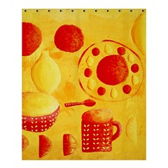 Lemons And Oranges With Bowls  Shower Curtain 60  x 72  (Medium)