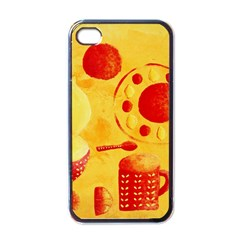 Lemons And Oranges With Bowls  Apple iPhone 4 Case (Black)