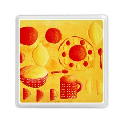 Lemons And Oranges With Bowls  Memory Card Reader (Square)
