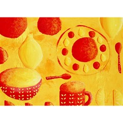Lemons And Oranges With Bowls  Birthday Cake 3D Greeting Card (7x5)
