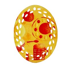 Lemons And Oranges With Bowls  Ornament (Oval Filigree)