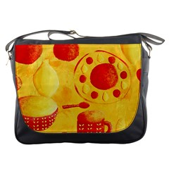 Lemons And Oranges With Bowls  Messenger Bags