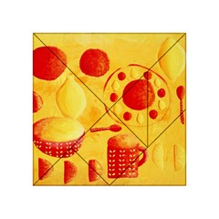 Lemons And Oranges With Bowls  Acrylic Tangram Puzzle (4  X 4 )