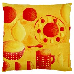 Lemons And Oranges With Bowls  Large Cushion Cases (Two Sides)