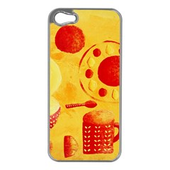 Lemons And Oranges With Bowls  Apple iPhone 5 Case (Silver)