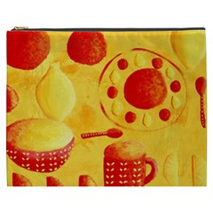 Lemons And Oranges With Bowls  Cosmetic Bag (XXXL)