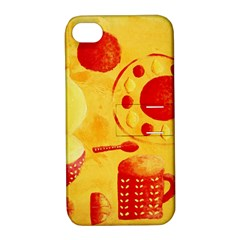 Lemons And Oranges With Bowls  Apple iPhone 4/4S Hardshell Case with Stand