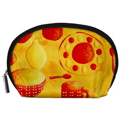 Lemons And Oranges With Bowls  Accessory Pouches (Large)