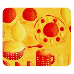 Lemons And Oranges With Bowls  Double Sided Flano Blanket (Small)