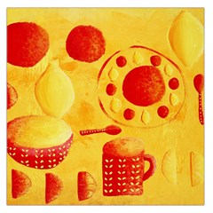 Lemons And Oranges With Bowls  Large Satin Scarf (Square)
