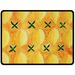 Lemons Double Sided Fleece Blanket (Large)