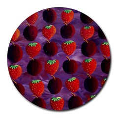 Strawberries And Plums  Round Mousepads