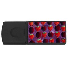 Strawberries And Plums  USB Flash Drive Rectangular (4 GB)