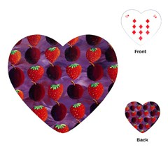 Strawberries And Plums  Playing Cards (heart)