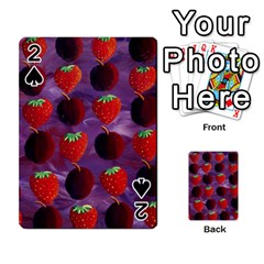 Strawberries And Plums  Playing Cards 54 Designs